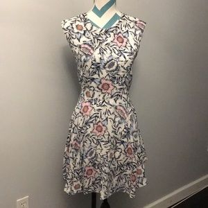 H&M Blue, White and Pink Dress
